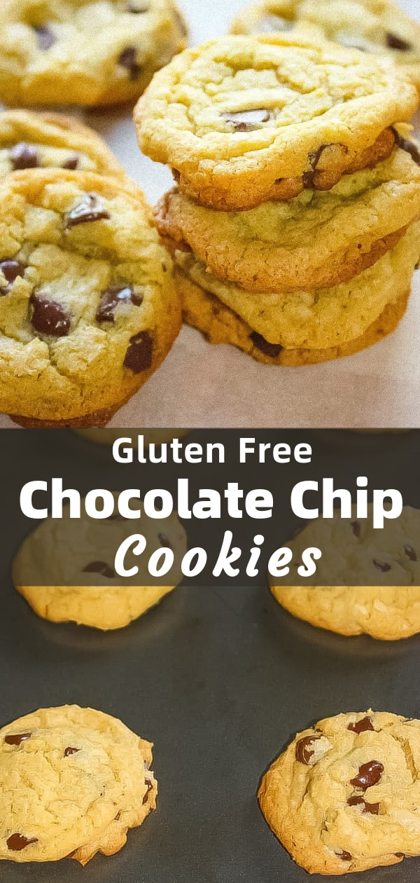 Gluten Free Chocolate Chip Cookies are an easy cookie recipe using Crisco and loaded with semi sweet chocolate chips.