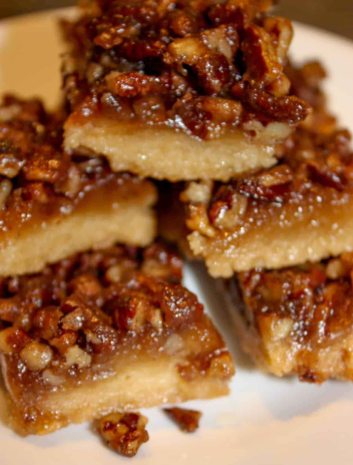 Pecan Pie Squares are a chewy, flavourful dessert square that will be a perfect addition to your holiday dessert tray. This gluten free version will surprise your guests that are able to consume a regular diet.