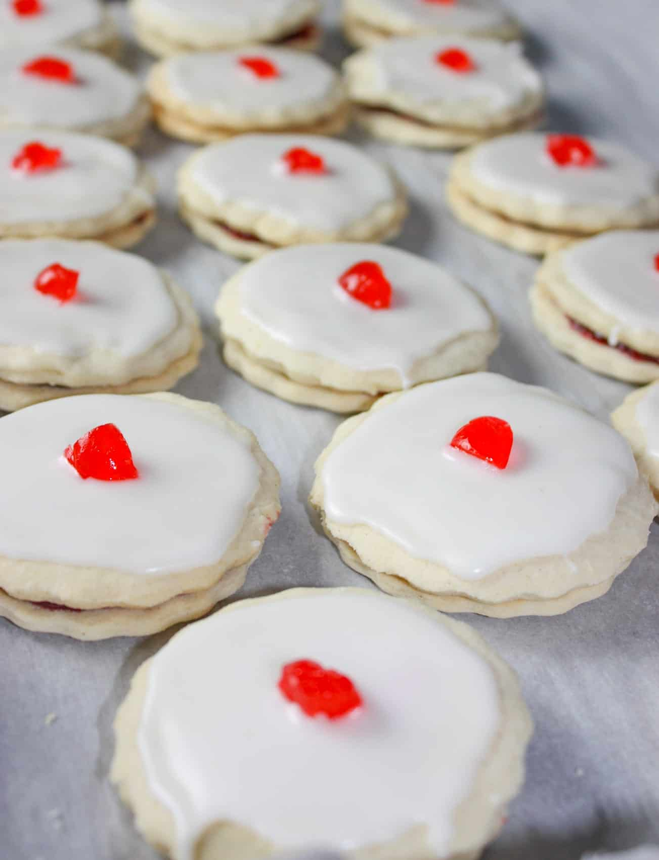 Empire Cookies are a favourite from my gluten eating days. This gluten free version, with sweet almond icing, was a heavenly treat and satisfied my cravings for a cookie that I have missed for many years!